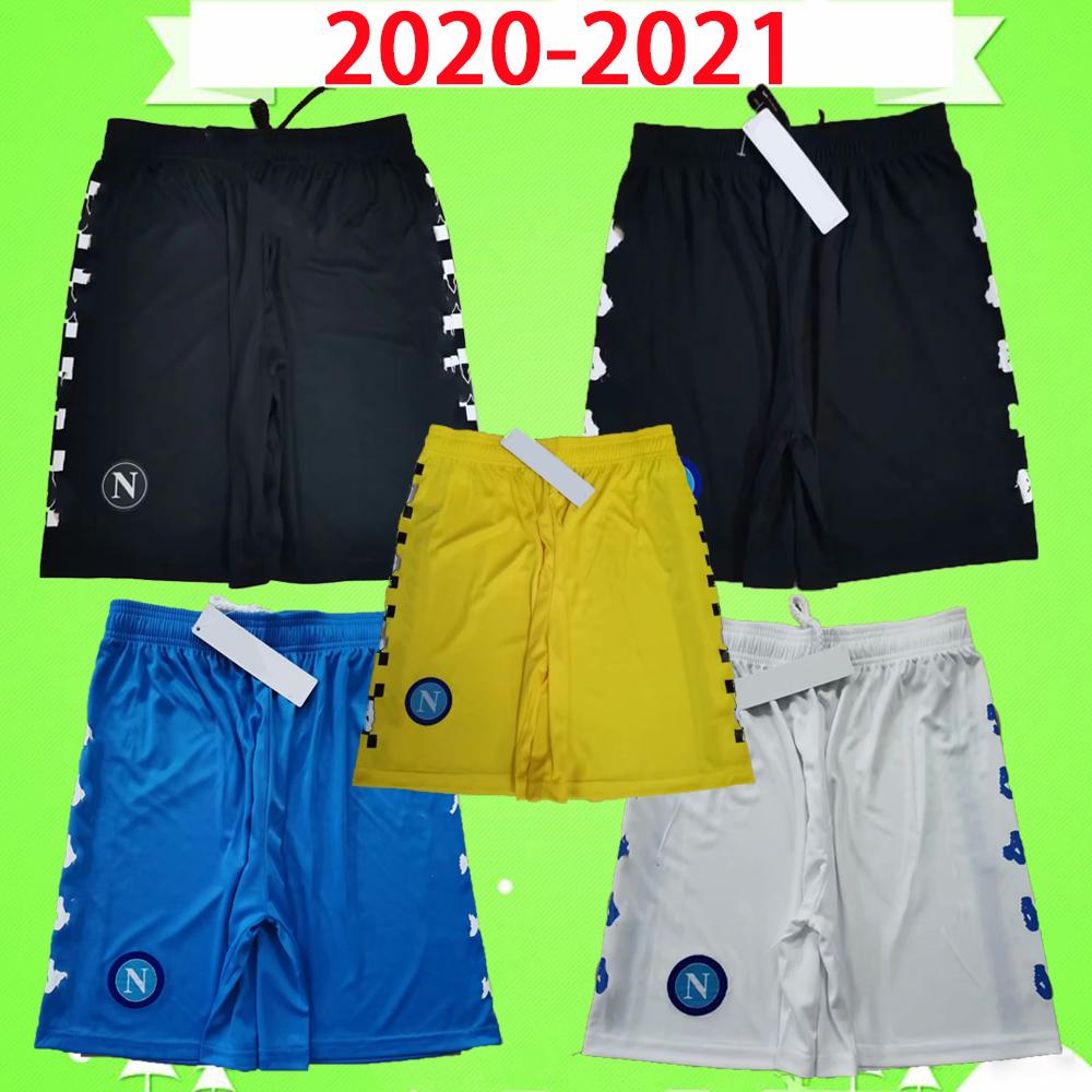 2020 2021 Pantaloncini da calcio Napoli Pantaloni da calcio Napoli Black Giallo Blu Bianco 20 21 Meret Casa Away Third Milik Koulibaly Insigne Mertens Top Quality