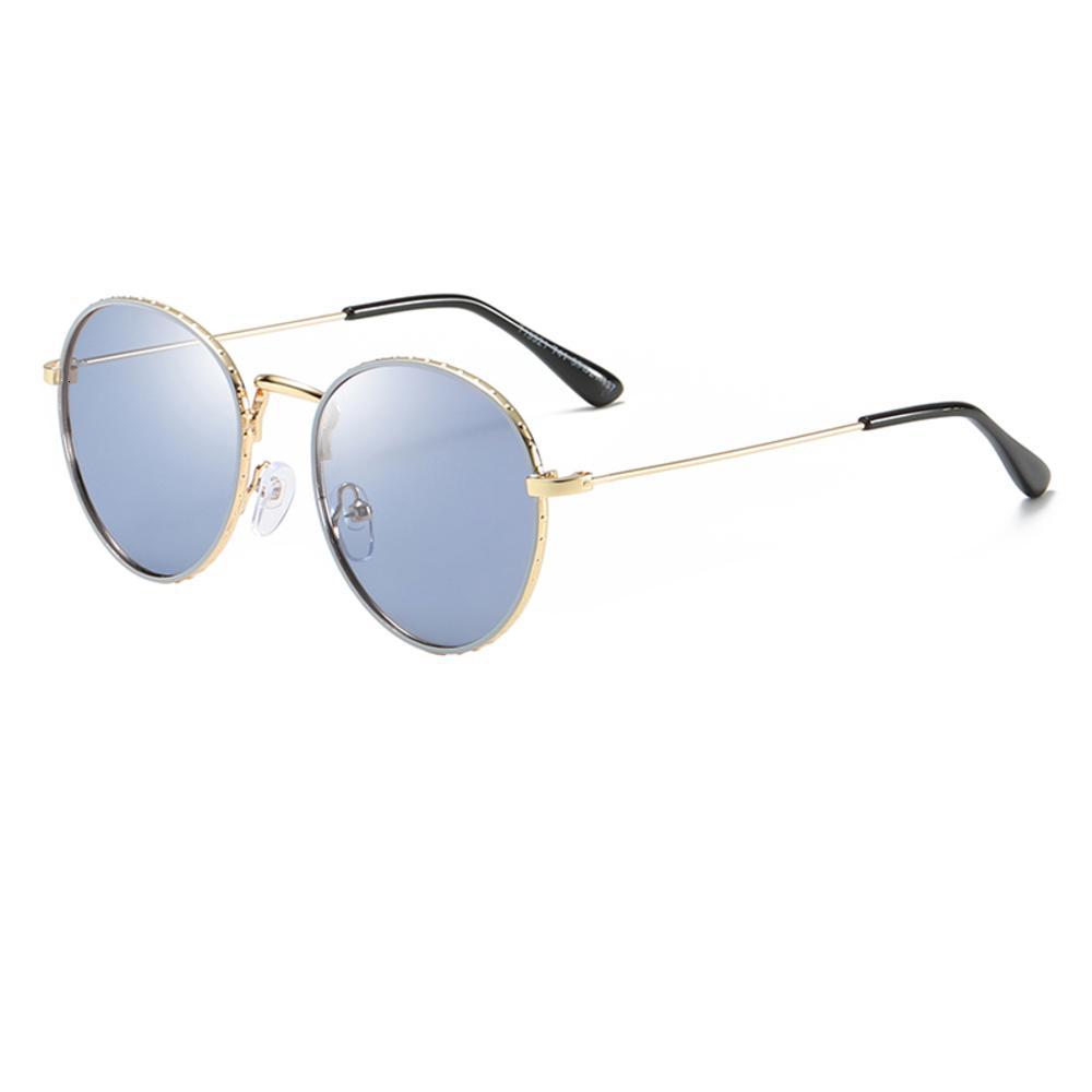 New to top qualidade crianças óculos de sol meninos meninos moda crianças redonda moldura de ouro vidro de alta qualidade óculos de sol anti-UV lente com shell0177