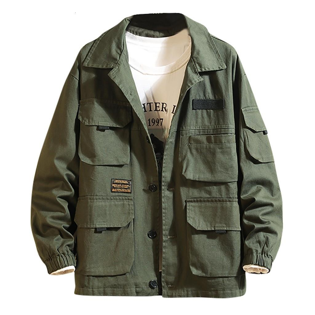 Down Kurtka męska w dół Kurtajca Mężczyźni Japońska Multi-Kieszonkowa Płaszcze Plain Lapel Płaszcz 5xl Jaqueta Casaco Masculino Chaqueta Hombre Jacket