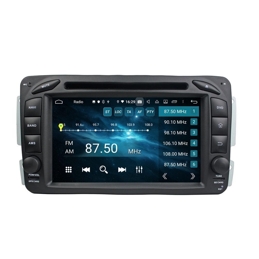 """Carplay Android Auto DSP 2 DIN 7 """"PX6 Android 10 자동차 DVD 스테레오 라디오 GPS 메르세데스 - 벤츠 A 클래스 W168 C-Class W203 CLK W209 / C209 G-Class W463 Viano / Viano W639"""