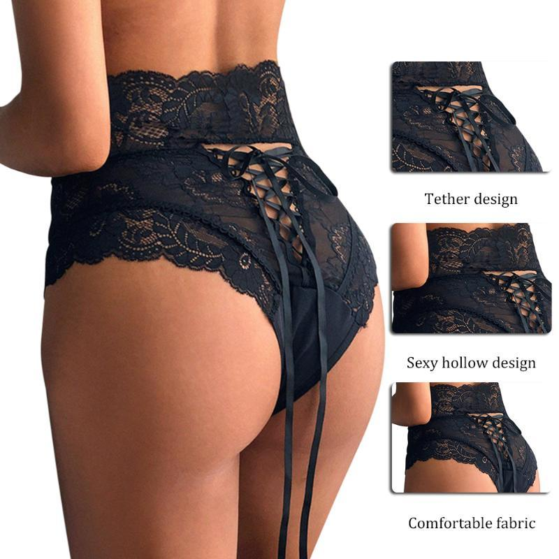 Women's Panties Lace G-String Lingerie Thong Female Hollow Out Underwear Ladies Transparent Knickers Intimates Sexy For Women