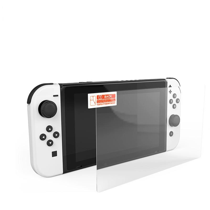 9h Hermed Glass Screen Protector för Nintendo Switch OLED 100PCS / Lot No Retail Package