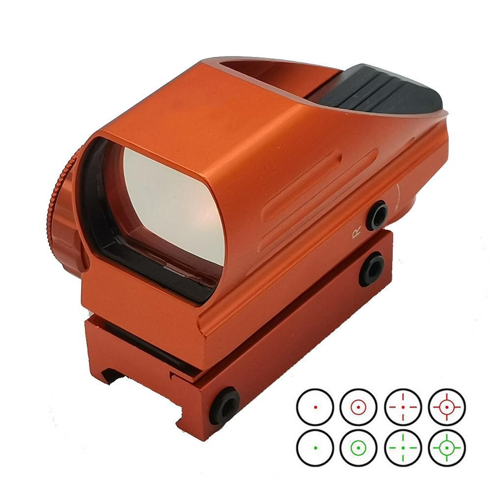 Тактический 1x33mm Красная Зеленая точка Airsoft Hearting Reflex Прицел Область прицел 4 Утилка Режим 20 мм Picatinny Rail Mount.