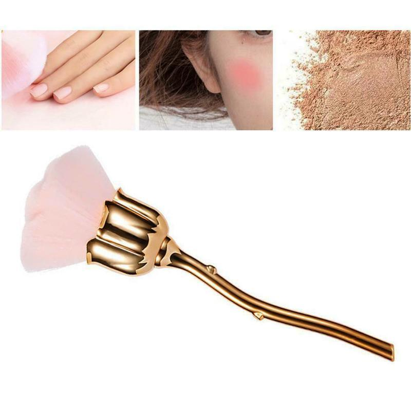 Pennelli per il trucco Rose Nail Art Spazzola antipolvere per Manicure Beauty Blush Polvere Fashion Gel Accessori Accessori Materiale Strumenti