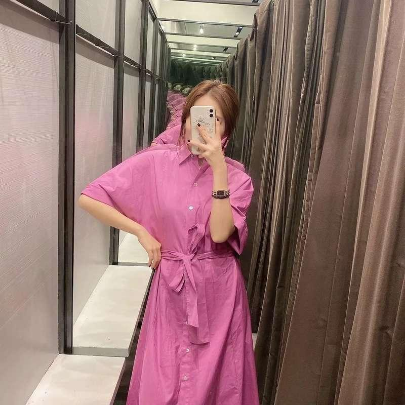 Kleider Herbst Stil Casual Slim Poplin Hemd Kleid 04437246630