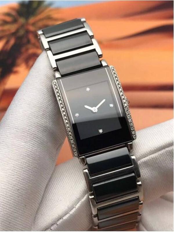 여자 검은 세라믹 시계 쿼츠 운동 패션 레이디 손목 시계 RD32에 대 한 최고 품질 비즈니스 시계