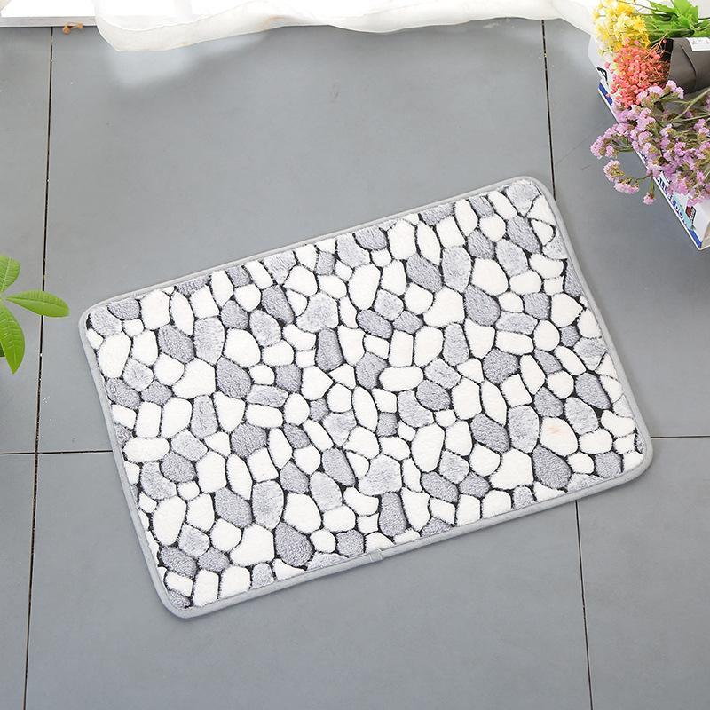 Alfombrillas de baño estera de baño simple hogar coral terciopelo alfombra piso antideslizante dormitorio sala de estar dormitorio café puerta puerta