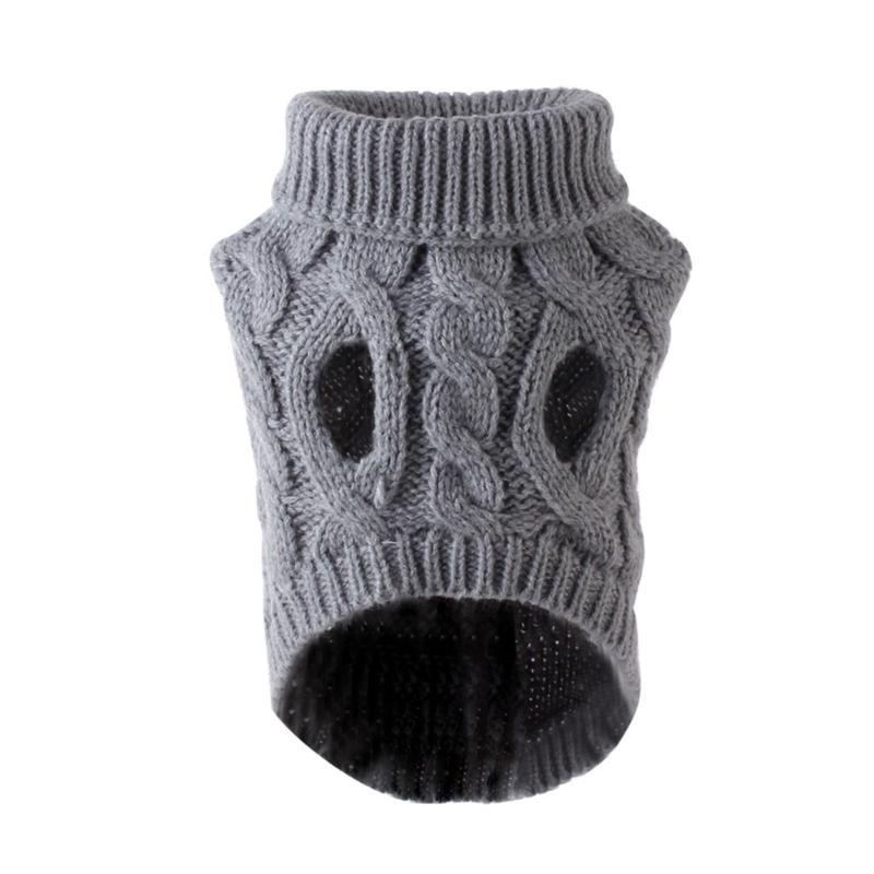 Dog Apparel Soft Sweater Elastic Pet Supplies Turtleneck Knitted Fashion Coat Pullover Jumper Winter Warm Puppy Cat Autumn