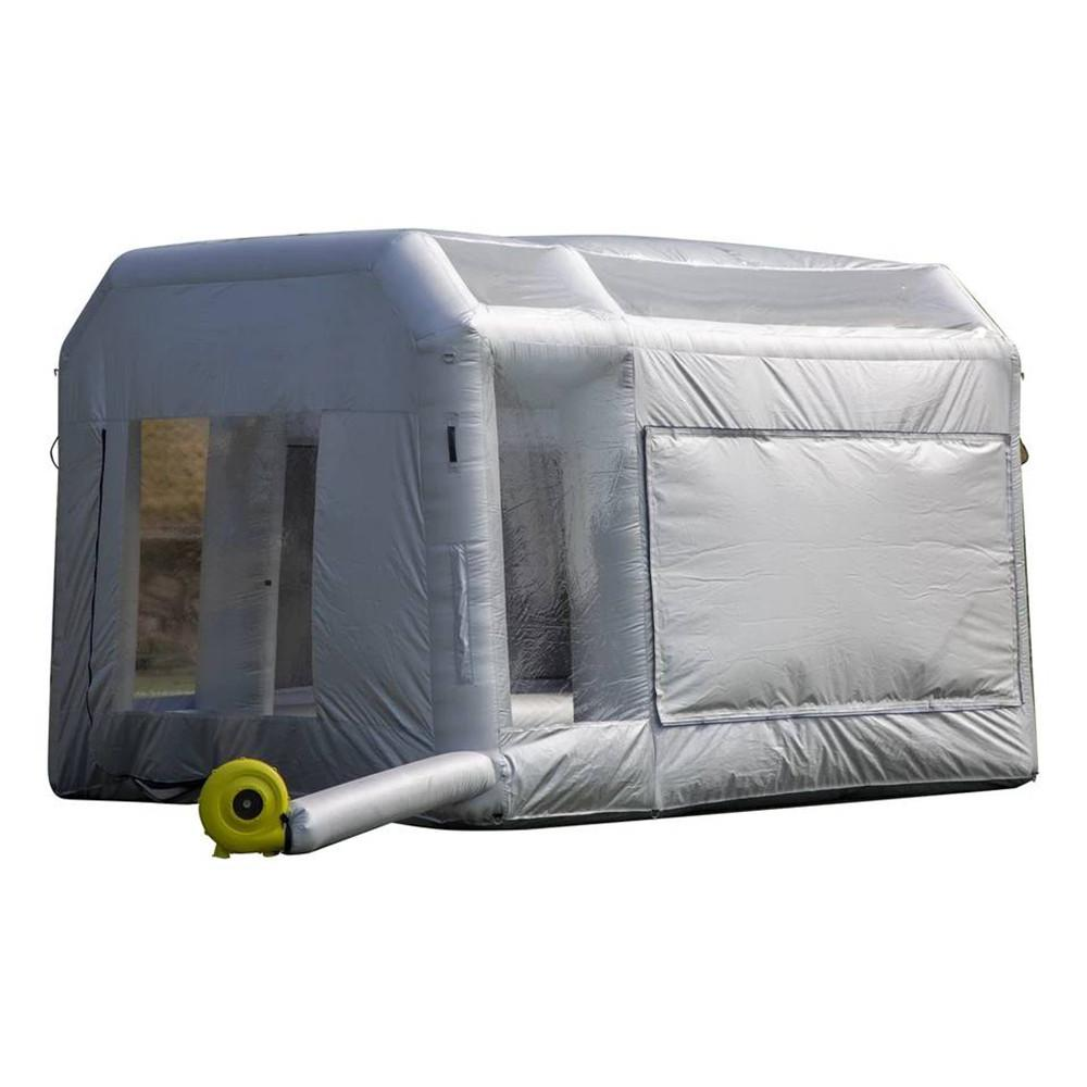 Customized Professional Inflatable Paint Booth Pop up spray house Tent with Filter System for Car Workstation 13x10x8ft