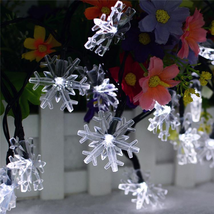 Luces de cuerdas de copo de nieve de Winter Wonderland, 10FT 20 LEDs 20ft 40 LED, para fiestas de cumpleaños de la iglesia de la iglesia de la iglesia