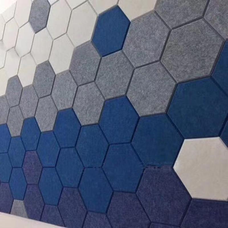 12 adet Altıgen Akustik Emme Panel Kurulu Polyester Ses Yalıtım Duvar Fayans 35EC Duvar Kağıtları