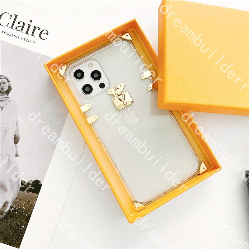L 4 color ruceury дизайнерский дизайнер моды чехлы для телефона для iPhone 12 Pro Max 11 11PRO 11PROMAX X XS XSMAX XR CLEAR CLEAT CHAINE CASE противотуивающая прозрачная оболочка кожи не скользящая крышка