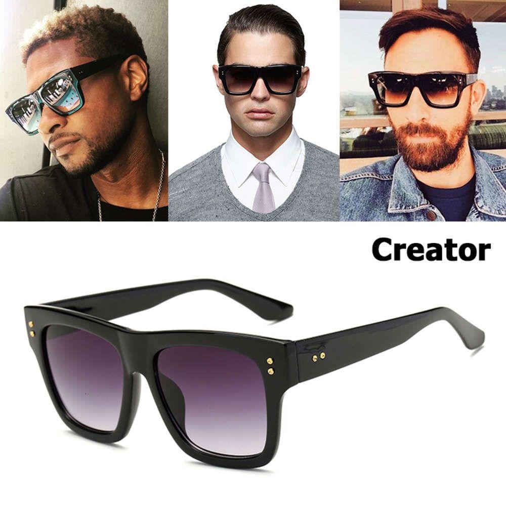 Jad 2021 novo estilo criador de moda gradiente quadrado óculos de sol mulheres homens incêndio digne bocal sunglass o sol 5673