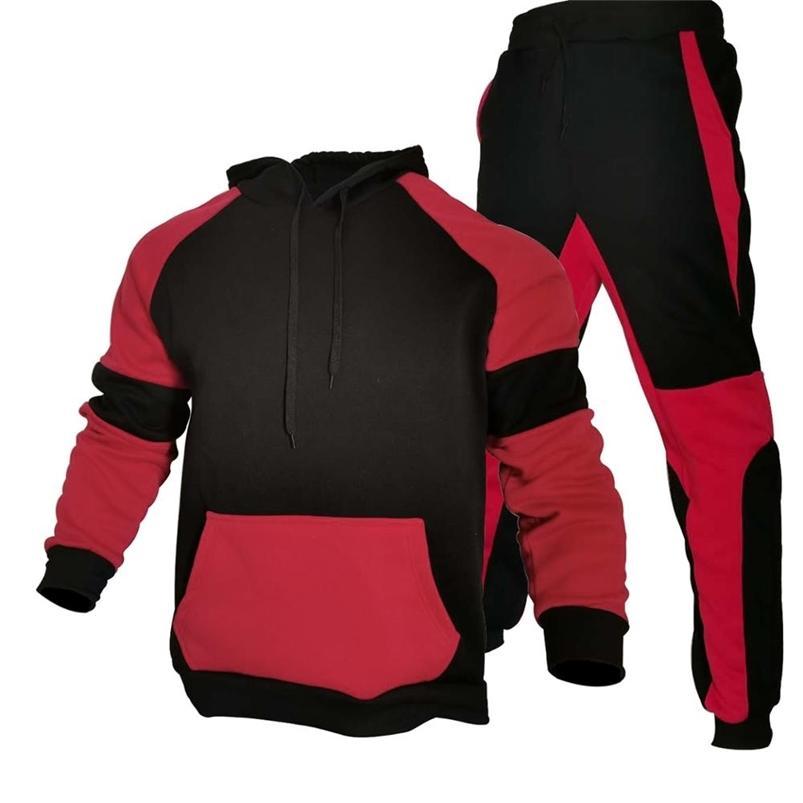 Stripe Tracksuits Sportswears pour hommes Ensemble automne hiver 2 pièces Sweatshirt + pantalon costume Brand Hommes Jogging Vêtements Vêtements de sport 210728