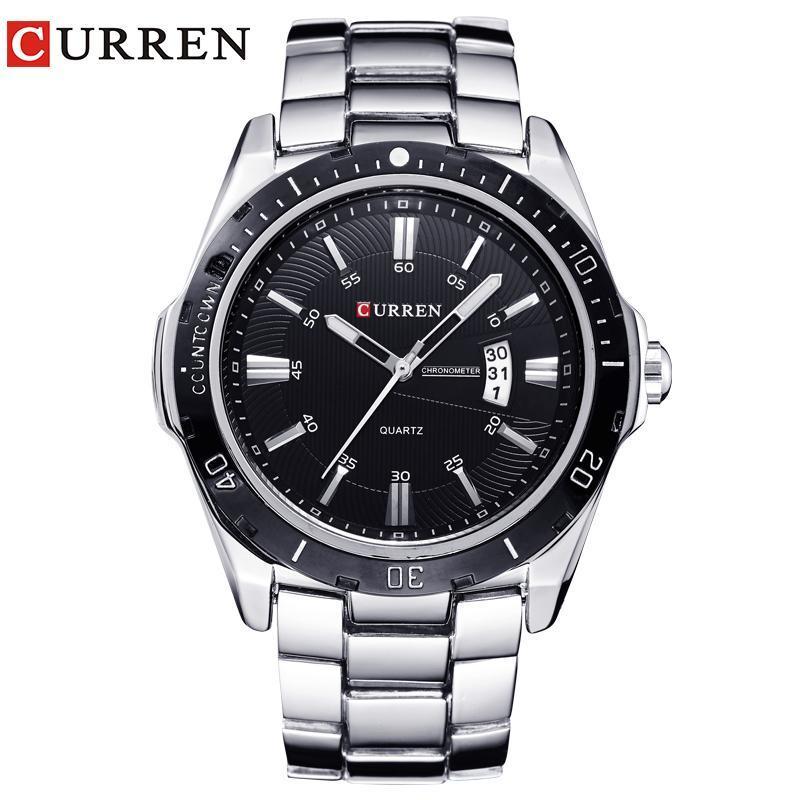 Armbanduhren Curren Uhren Männer Top Marke Mode Watch Quarz männlich relogio masculino armee sport analog casual 8110