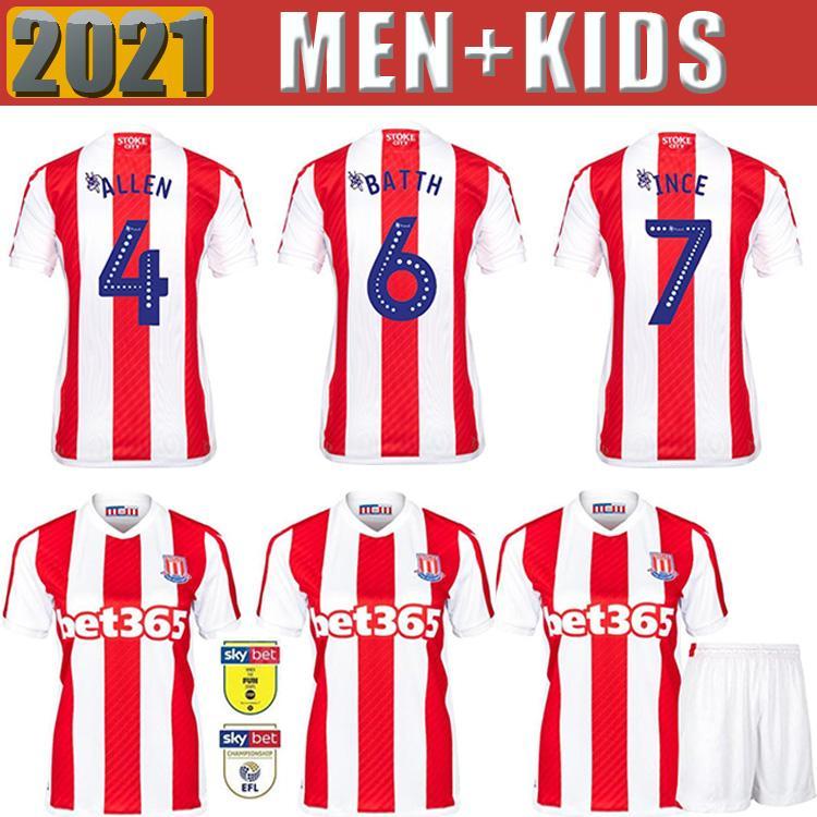 2021 2022 Stoke City Soccer Jerseys Home Away Clucas Gregory Powell Campbell McClean Vokes Abobe تخصيص 21 22 رجل كرة القدم القمصان