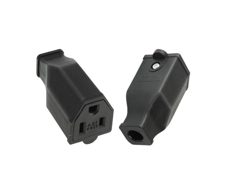 Adaptador de alimentação de alta qualidade, receptáculo do soquete dos EUA NEMA 5-15R conector fêmea / livre DHL / 100 pcs