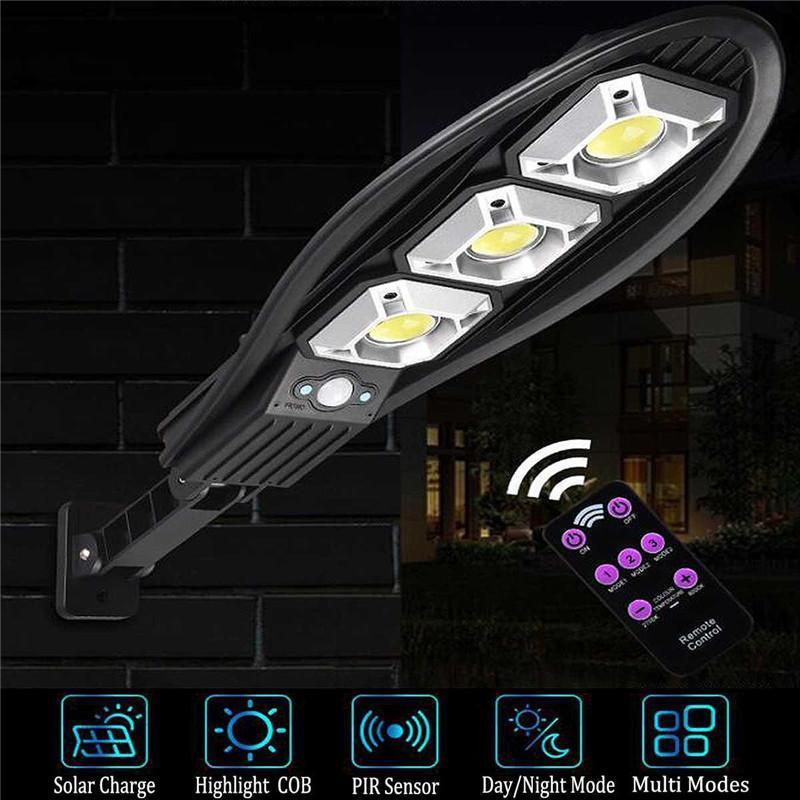 LED Solar Lamp Outdoor Night light Powered Sunlight Waterproof PIR Motion Sensor Street Lights for Garden Decoration