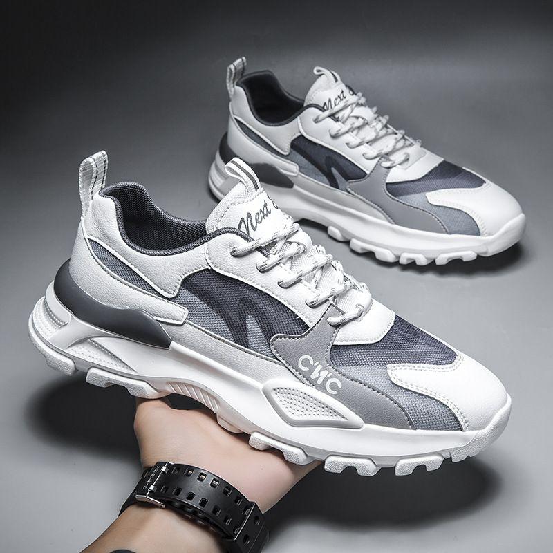 Erkek Ayakkabı Yaz Nefes Ince 2021New Erkek Rahat Mesh Spor Ayakkabı Çok Yönlü Trendy Baba Ayakkabı