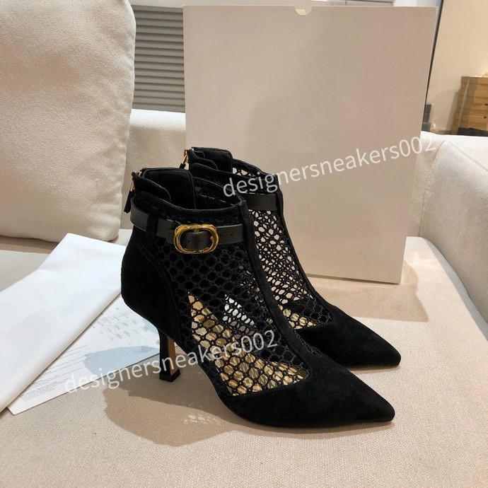 Christian Dior d'Or Top New Women Summer Causla Sandalias Zapatos de pescadores retro Malla transpirable Toe Round Toe Lace Up Shoes Lazs Flat Pasos XL201204 LWN