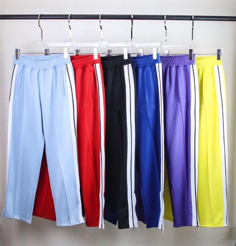 Mens Womens Calças Esportes Calça Designers Tracksuits Ternos Loose Casacos Hoodies Hoodies Sweatpants Arco-íris Cordão Zíper Calças Casuais Sportswears
