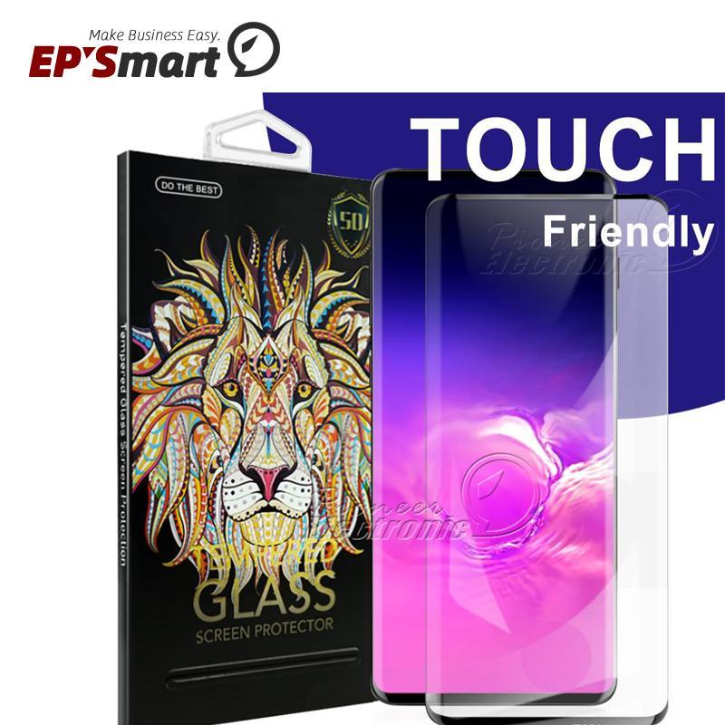 حامي الشاشة الزجاجي ل 5 جرام لا حفرة سامسونج غالاكسي S21 S20 S10 S9 S8 Ultra Plus S7 Edge Huawei Mate 40 Pro 5D غطاء كامل بصمة unclock