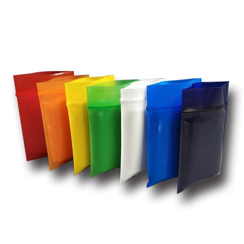 Multi-tailles et couleurs Sacs de pains de serrure à glissière en plastique 100pcs / lot Coloré fermeture à glissière de fermeture à glissière cadeau Decoration accessoires sac d'emballage