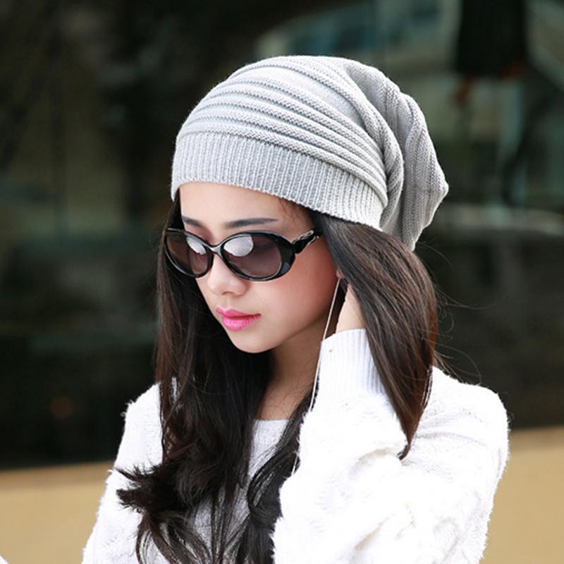 И женщины смешанные цвет хлопчатобумажные полосатые мужчины хип-хоп зима теплая шапка шарф шариков вязание длинные свободные головки