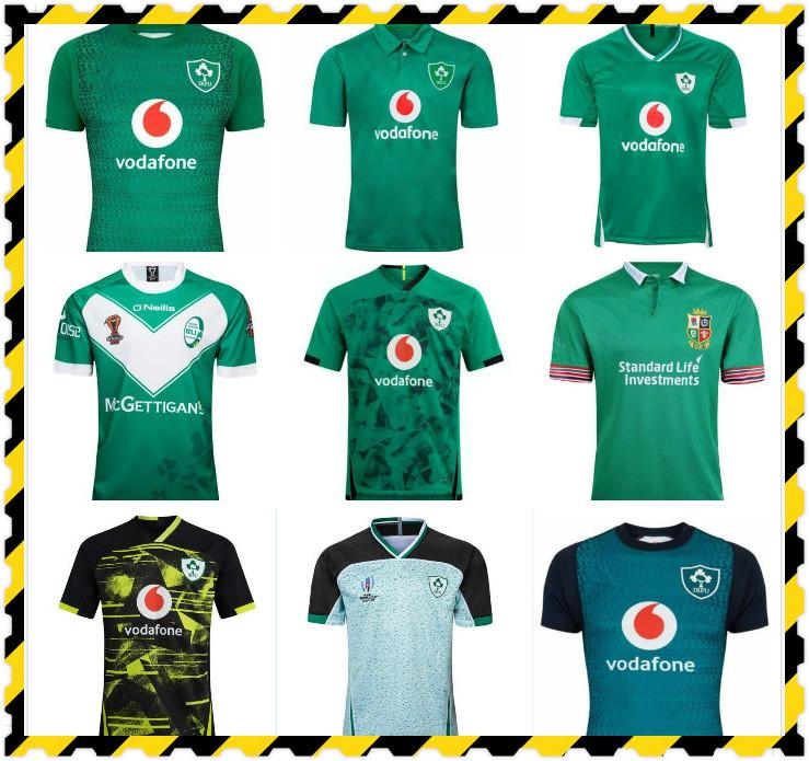 Top NUEVO 2019 2020 2021 Irlanda Rugby Jerseys T Shirts Home Away Rugby League Jersey 20 21 Camisetas S-5XL