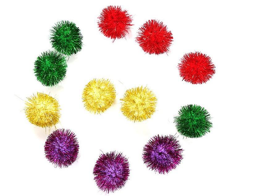 Gatos juguete 5 cm bola brillante bolas pequeñas mascotas juguetes divertidos gato suministros aleatorio 8pcs por lote