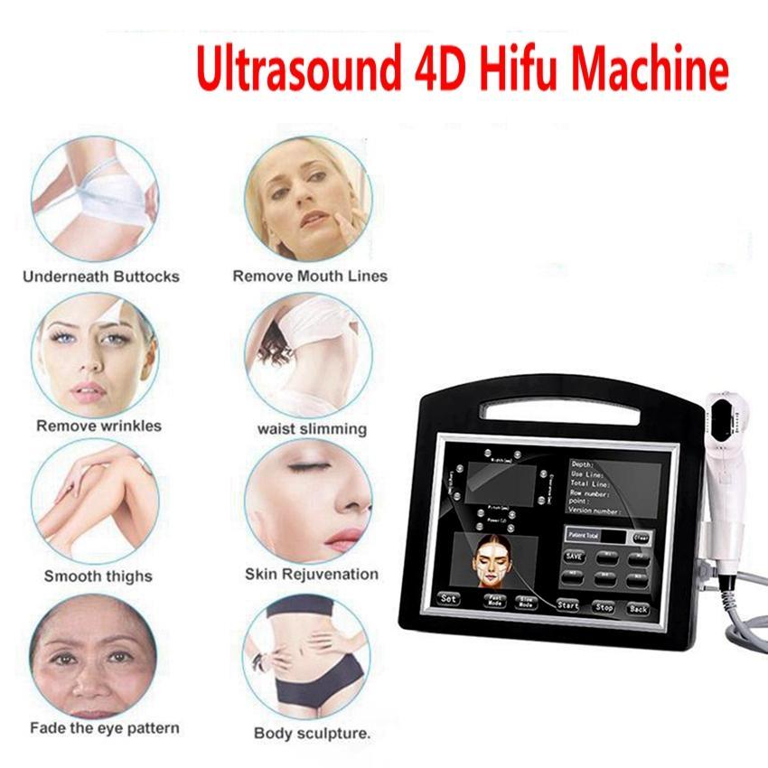 Portable High Intensite Cocighted Ультразвуковая 4D Hifu Machine 12 Lines 20000 Выстрелы Лифтинг Кожа Подтягивание Кожа Удаление морщин Тело для похудения Красота