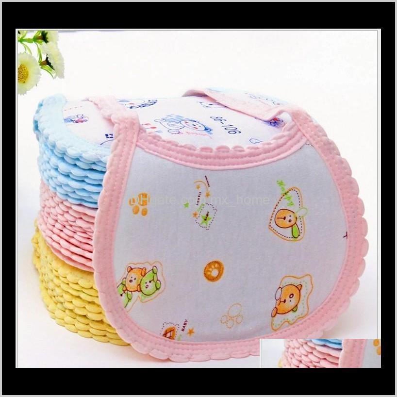 Bebê cartoon criança algodão bib bebês nascido cores misturadas 100 pçslote elbla burp panos gz0tr