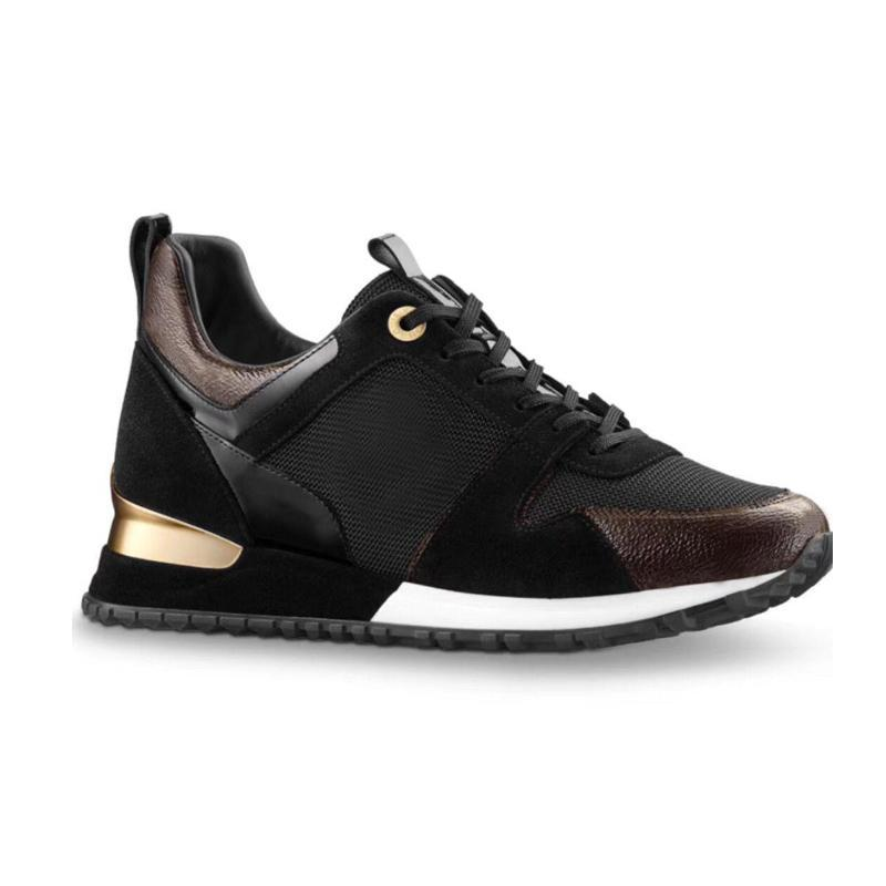 men Run Away sneakers Top Quality Women Shoes calf Leather Mesh Mixed Color Trainer Runner Shoes Unisex tennis shoes Size