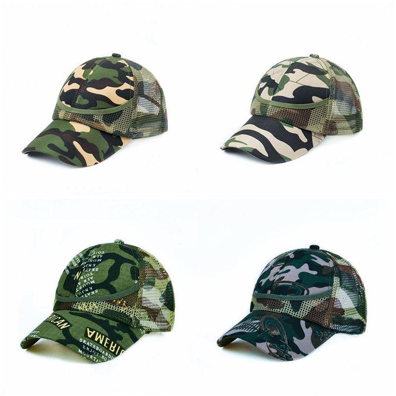 5ピースキッズ迷彩野球キャップ1-9Y 7色男の子ガールズメッシュボールハットSun Hats調整バイザーキャップ子供ブティックアクセサリー
