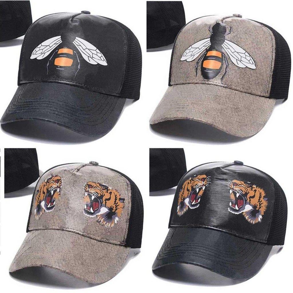 2021 Venta al por mayor de moda estilo hueso Visor de golf Casquette gorra de béisbol Mujeres Gorras Papá Sports Lujos Sombreros para hombre diseñador Hat Hip Hop Bee Snake Tiger Snapback Caps
