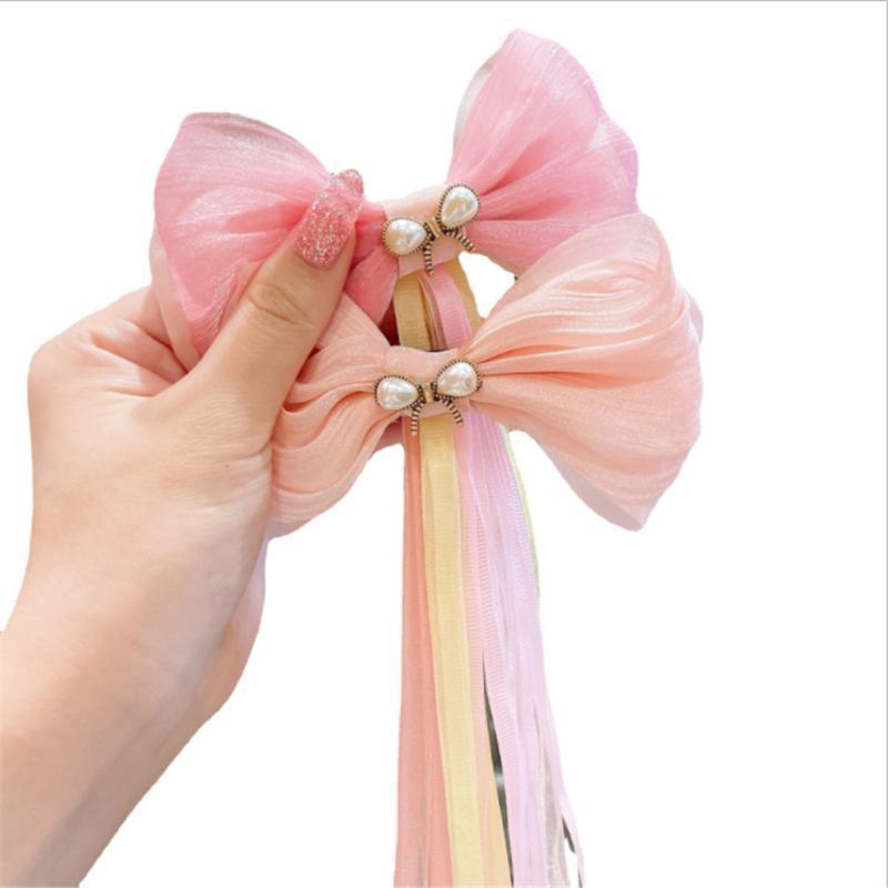 Kindertag Geschenke Kinder Big Ribbon Massivhaar Bögen mit Clips Mädchen Headwear Boutique Zubehör