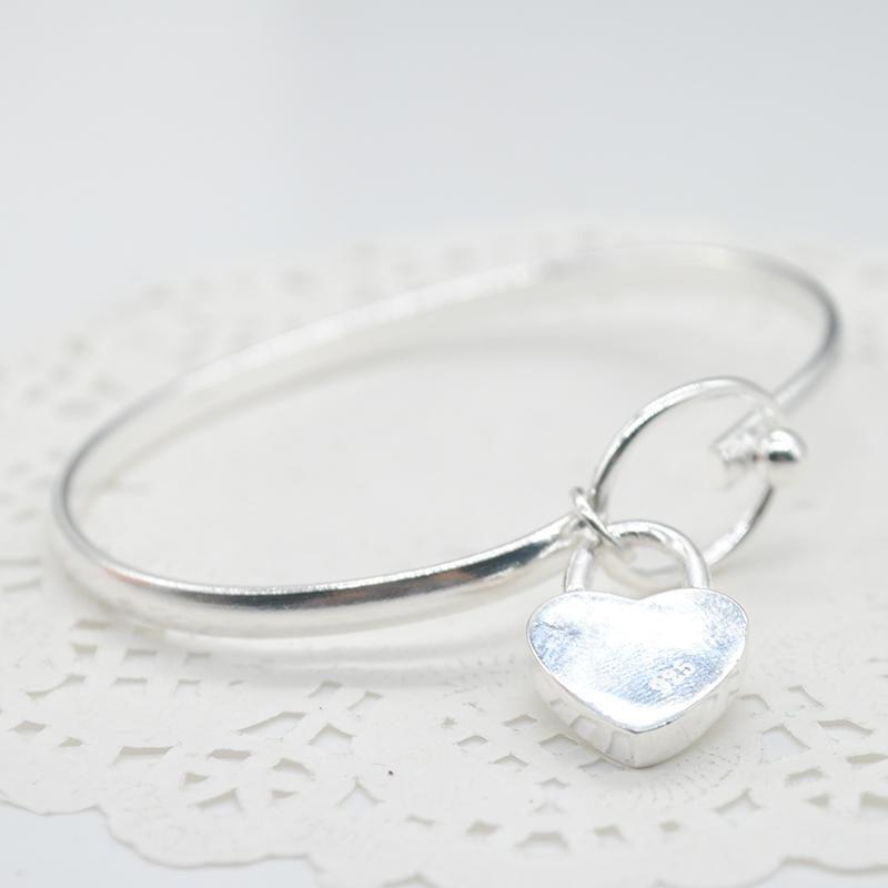 Dating Düğün Dekorasyon Romantik Parti Aşk Kalp Günlük Açık Manşet Rahat Gümüş Kaplama Kadın Bilezik