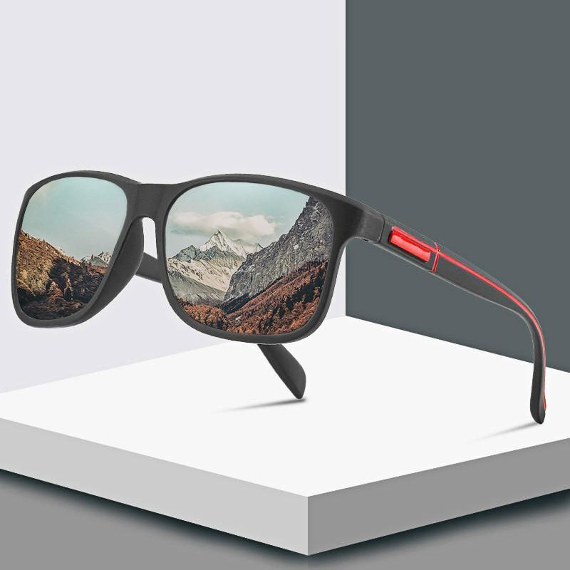 في الهواء الطلق نظارات 2021 الأزياء التفاف مربع الإطار الرجعية الزخرفية الاستقطاب النظارات الشمسية تنوعي نمط الرياضة نظارات الشمس الصيد الدراجات يوني