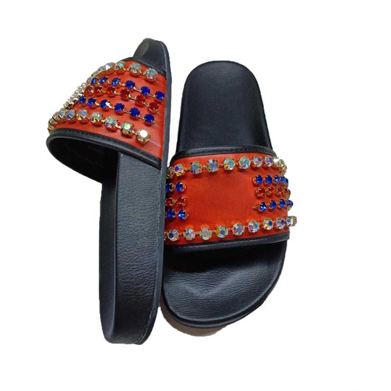 Летние тапочки классические жемчужины женские моды дизайнеры плоские скольжения шлепанцы мужчины роскоши высококачественные женские сандалии Silde мужские с коробкой размером 35-46