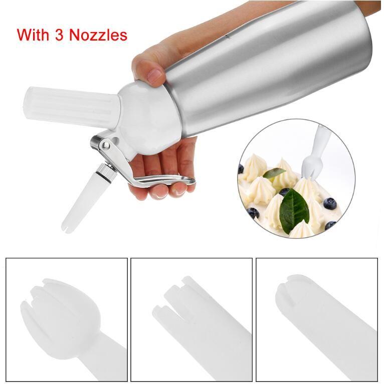 500ml N2O 디스펜서 크림 Whipper 커피 디저트 소스 버터 채우기 알루미늄 합금 크림 폼 메이커 케이크 도구 해상 운송 CCA12608A