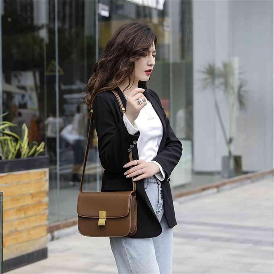 Hong Kong kadın tofu box2021 Yeni moda küçük kare, kadın tek omuz ve messenger çanta