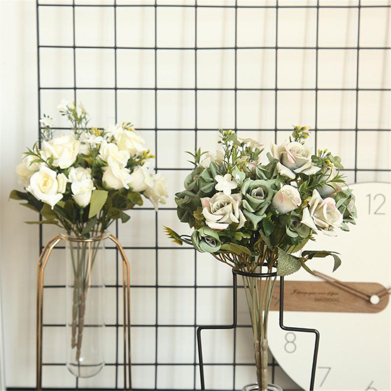 31cm rose rosa peônia de seda artificial buquê 5 grande cabeça e 4 bud falso para decoração de casamento em casa grinaldas decorativas interiores