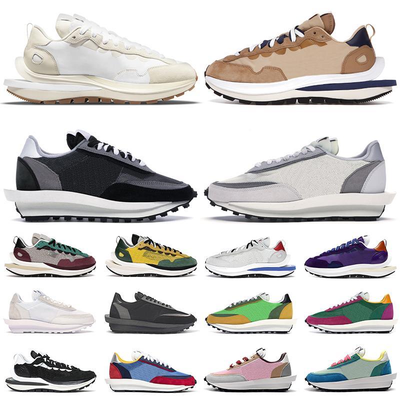 2021 shoes sacai hommes femmes chaussures de course vaporwaffle Black Summit White Dark Iris Sail Gum Sesame Pine Green Stadium baskets pour hommes baskets de sport de plein air