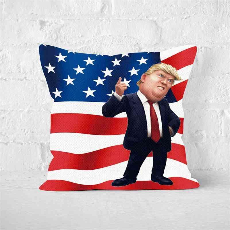 7Colors linen cushion cover trump 2024 throw pillow case US flag independence day gifts party home sofa car pillowcases pillowcase pillowslip G78UM3C