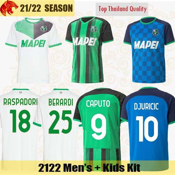 21 22 Sassuolo Futbol Formaları BERARDI 2021 2022 CAPUTO DJURICIC RASPADORI TRAORE Futbol Forması FERRARI LOCATELLI DEFREL Forması
