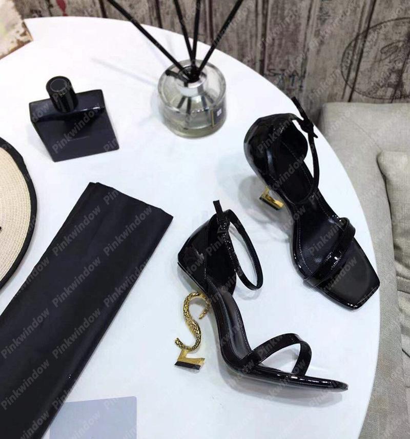 المرأة صندل صندل عالية الكعب الصنادل إمرأة فاخر مصممين اللباس أحذية 2021 عالية الكعب صندل مصمم heathoes الكعوب مع مربع 2104101l