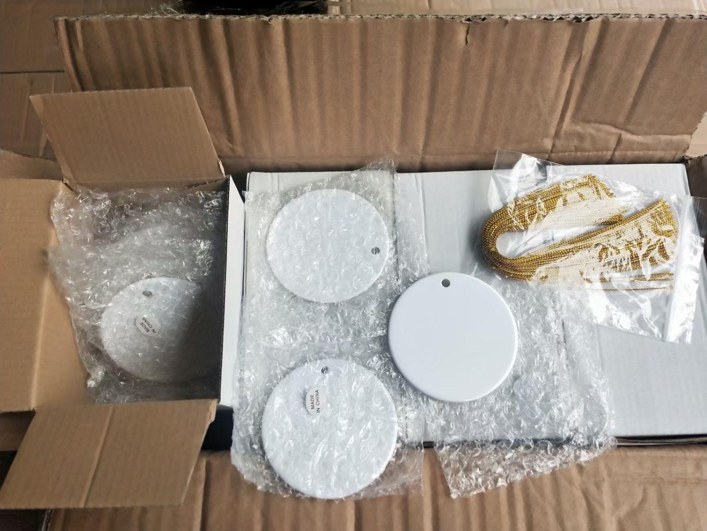 Natal decoração sublimação ornamento cerâmico lados duplos coração transferência térmica pingentes em branco DIY Decorações de festa personalizada A02
