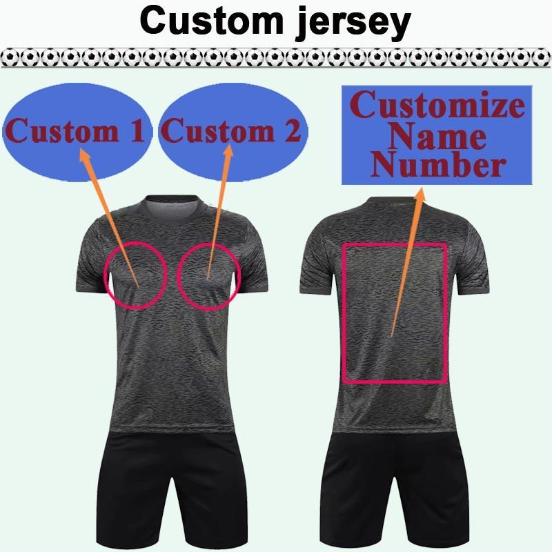 Custom National Team Club Hommes Soccer Jersey Kit Vous pouvez personnaliser le nom et le nombre de chemises de football design tels que 15 Haikou