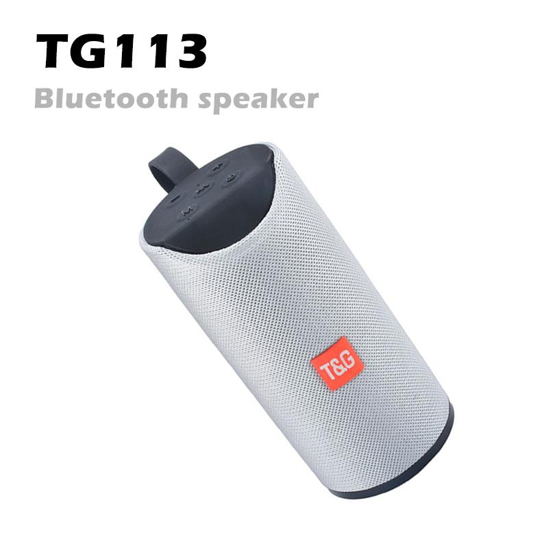 TG113 Altoparlanti wireless Bluetooth Subwoofer Subwoofer Livice Chiama profilo Stereo Bass Supporto TF USB Card Aux Line nella batteria Hi-Fi 1200Mah