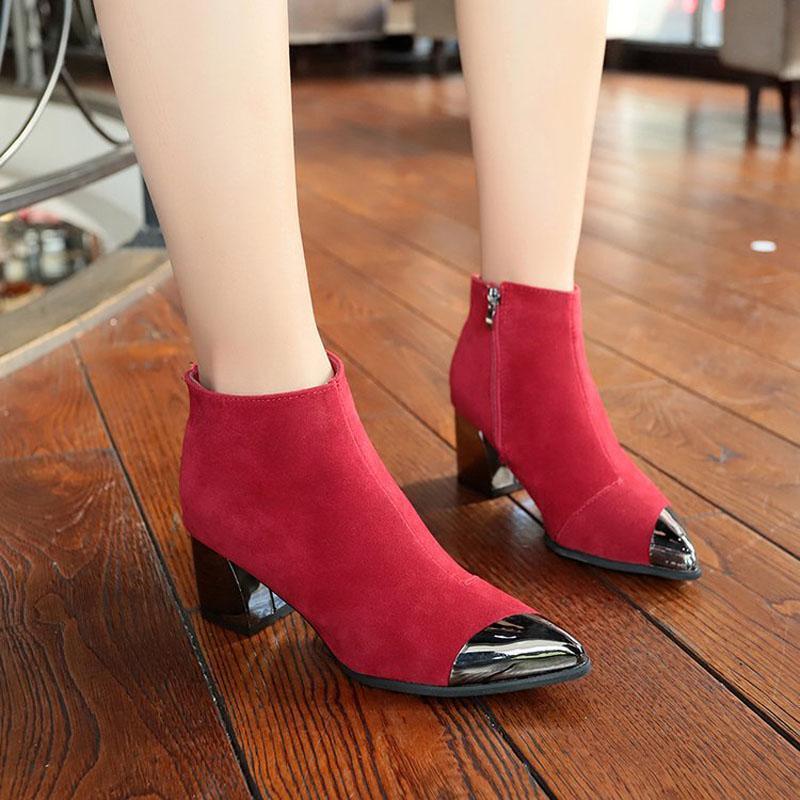 Bottes Abefaling Femmes 6cm High High High High Snow Fille en plein air Girl d'hiver Coton Cloton Coton Dame Chaussures AWBT218
